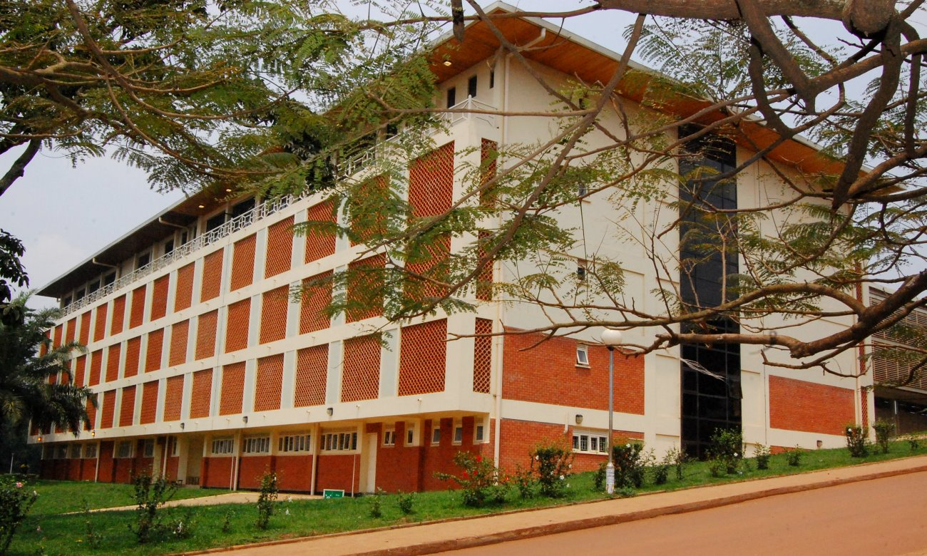 The Main Library as seen on 30th July 2012 from Northcote Road, Makerere University, Kampala Uganda