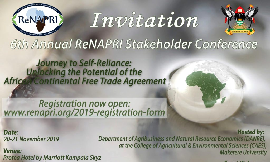 6th Annual ReNAPRI Stakeholder Conference, 20th to 21st November 2019, Protea Hotel by Marriott Kampala Skyz, Naguru Hill, Kampala Uganda