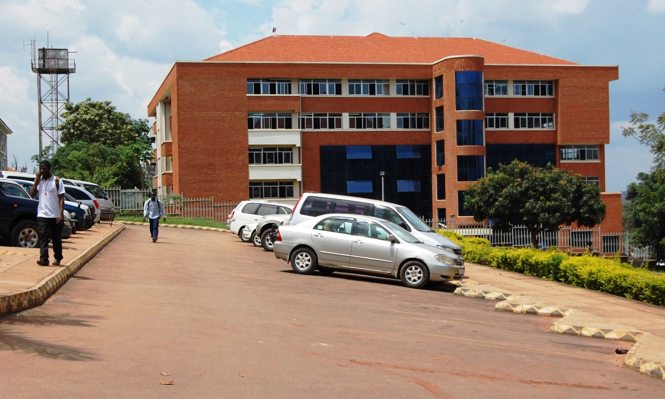 Block B of the College of Computing and Information Sciences (CoCIS), Makerere University, Kampala Uganda as seen from the Block A parking lot