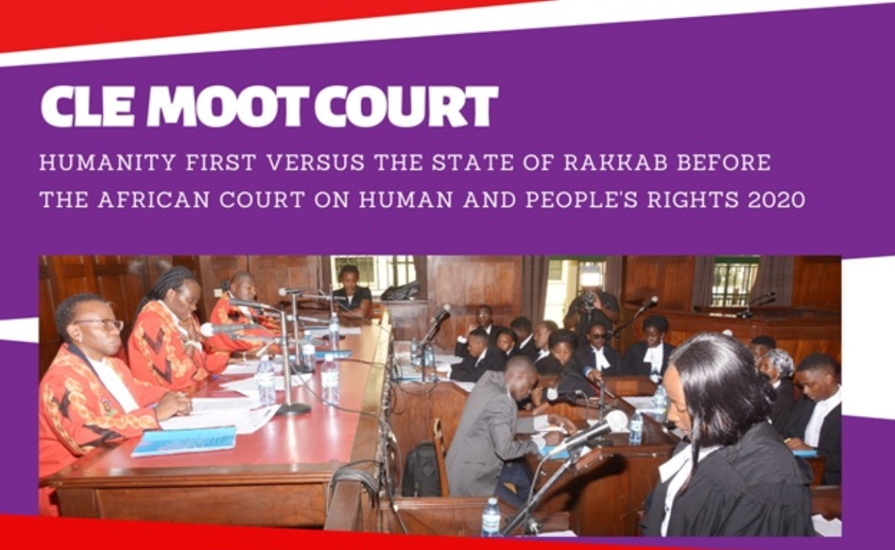 The 6th Moot Court by the School of Law Clinical Legal Education class of 2020 before real Judges at the High Court 13th November 2020 starting at 12:00PM